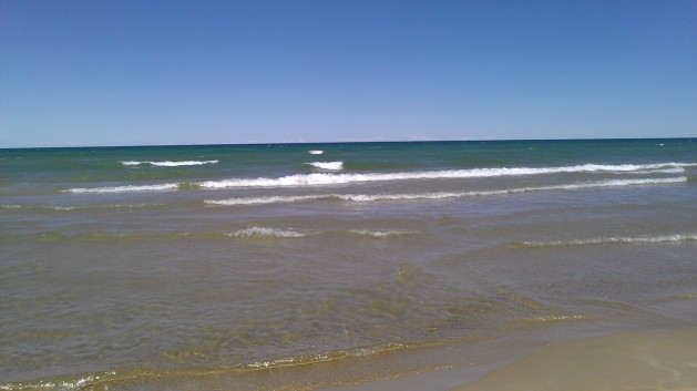 Beach on Lake Huron in Oscoda, MIchigan