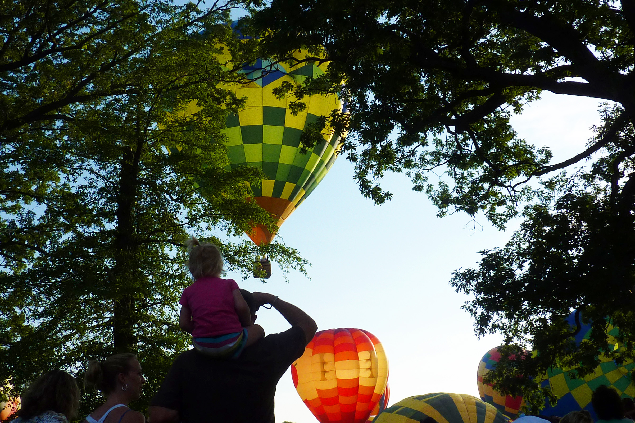 Spectators at the Michigan Challenge Balloonfest in Howell, Michigan