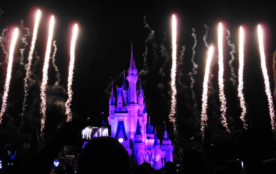 Fireworks at the Magic Kingdom in Walt Disney World - Orlando, Florida