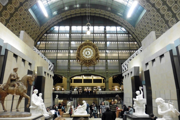 Inside the Musee d'Orsay in Paris, France