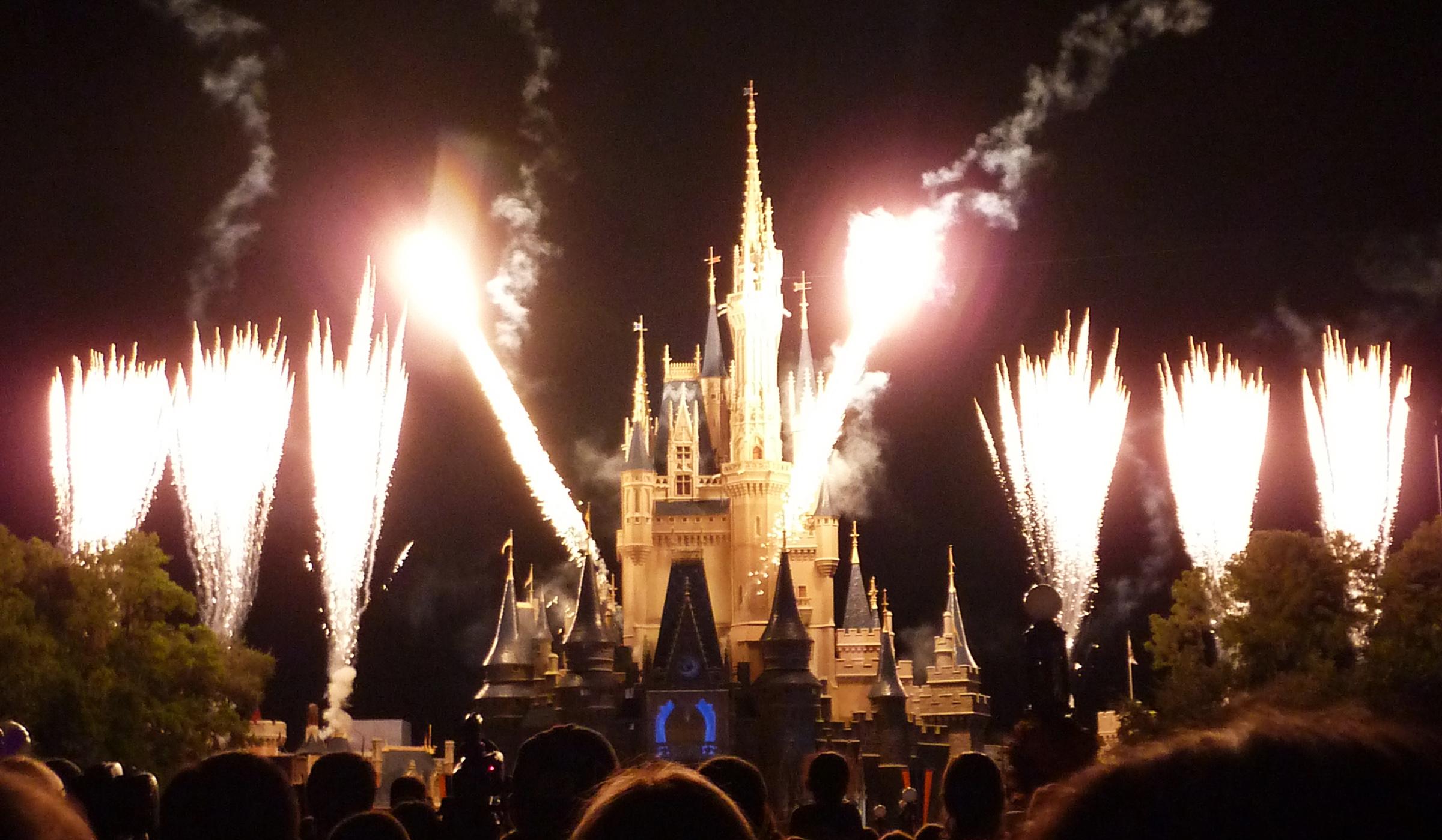 Fireworks at the Magic Kingdom in Walt Disney World Orlando, Florida