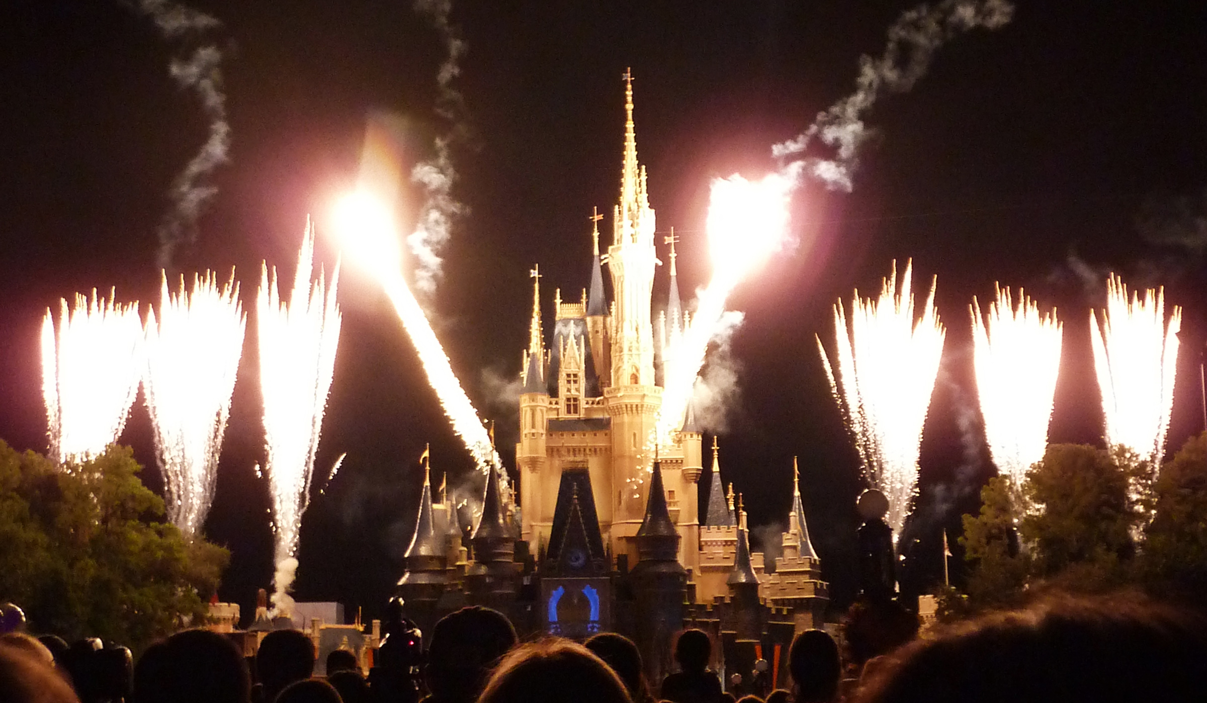 Fireworks at the Magic Kingdom in Walt Disney World Orlando, Florida